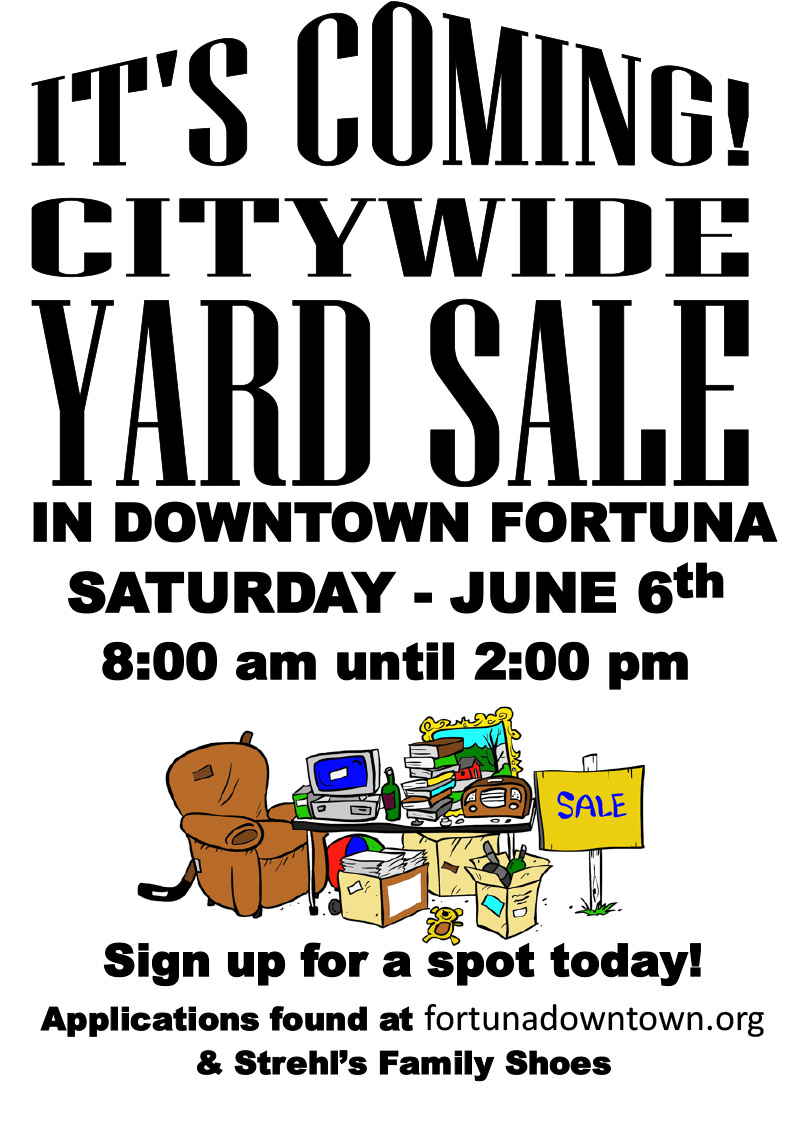 City wide yard sale poster image